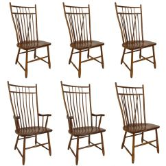 Windsor Back Chairs For Sale Colorful Fabric Side Set Of Six High Style Dining