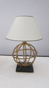 Pair of Sphere Model Table Lamps at 1stdibs