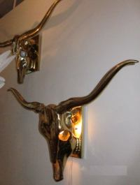 Brass Skull Sconces at 1stdibs