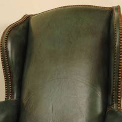 Queen Anne Wingback Chair Leather Workout Ball Benefits Pair Of Italian Style Walnut And