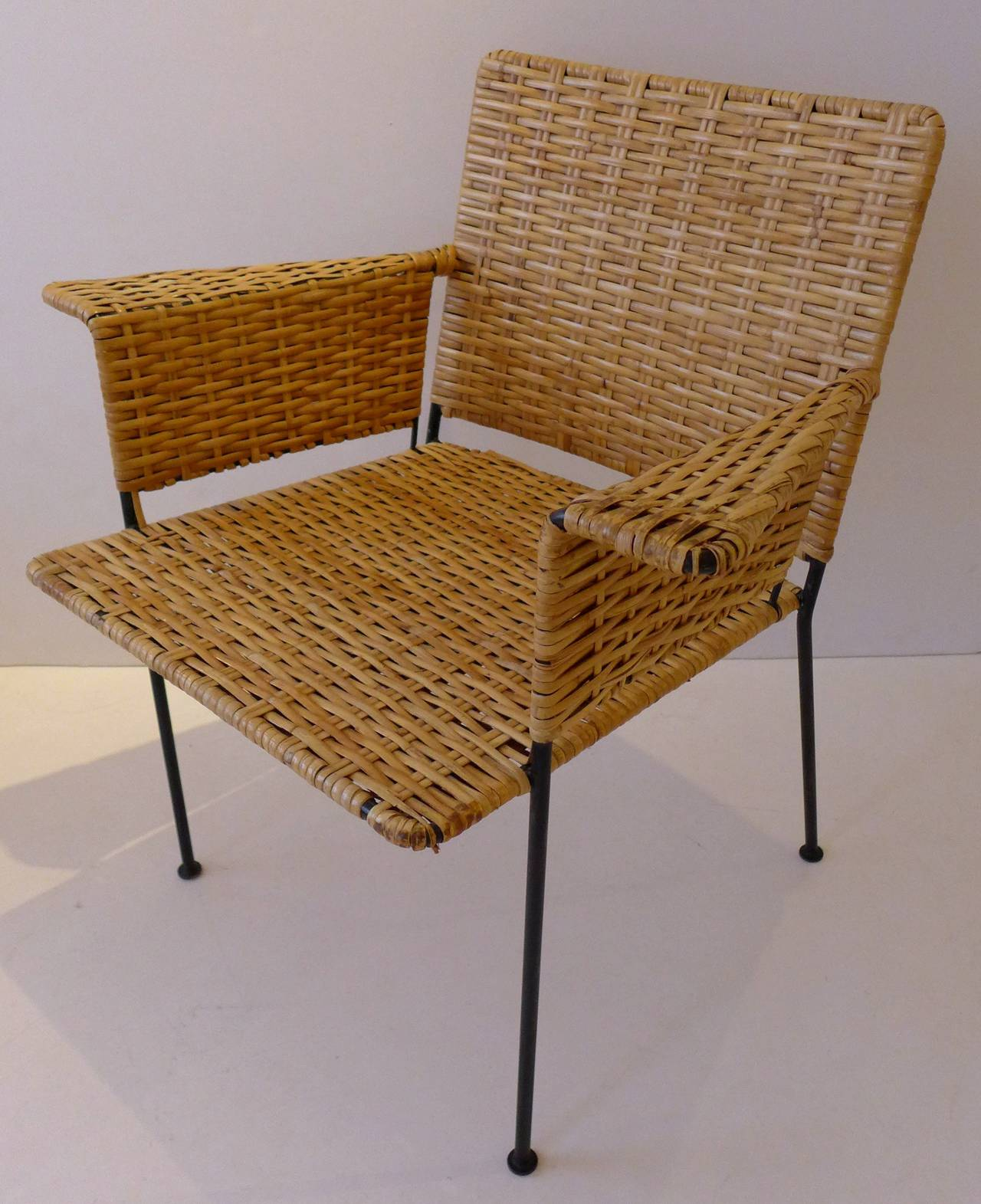 wrought iron chair rustic dining table and chairs van keppel green in rattan at 1stdibs