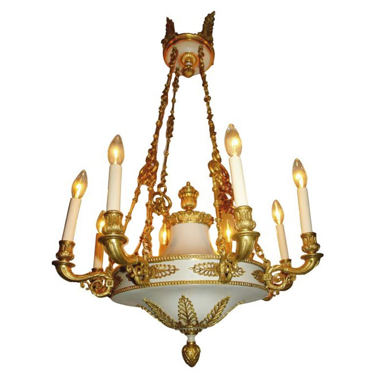 Empire Style Chandelier For Sale at 1stdibs