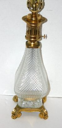 Molded Glass Lamp For Sale at 1stdibs