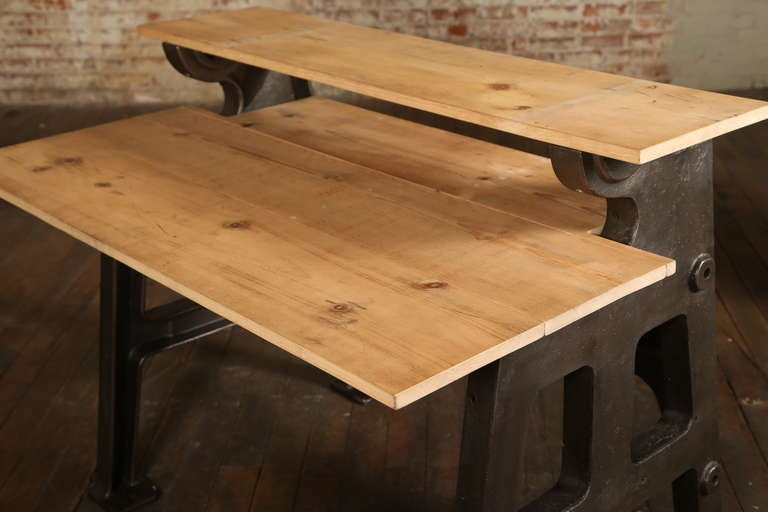 Vintage Industrial TwoTier Desk at 1stdibs