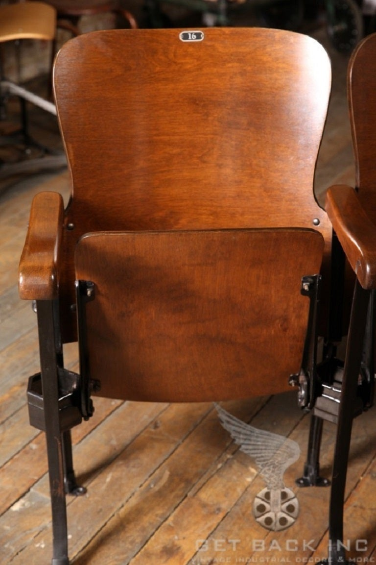 antique folding rocking chair wood lawn chairs original vintage theater seats at 1stdibs