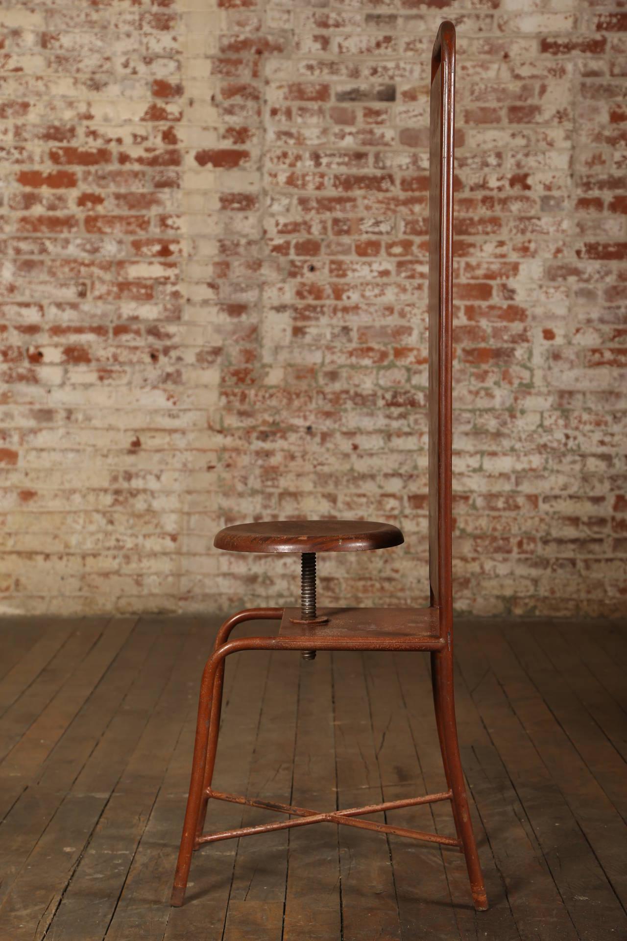 united chair medical stool lift parts original vintage adjustable or at 1stdibs