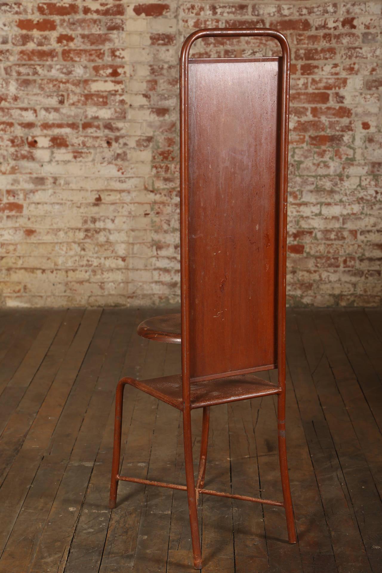 united chair medical stool folding rack original vintage adjustable or at 1stdibs