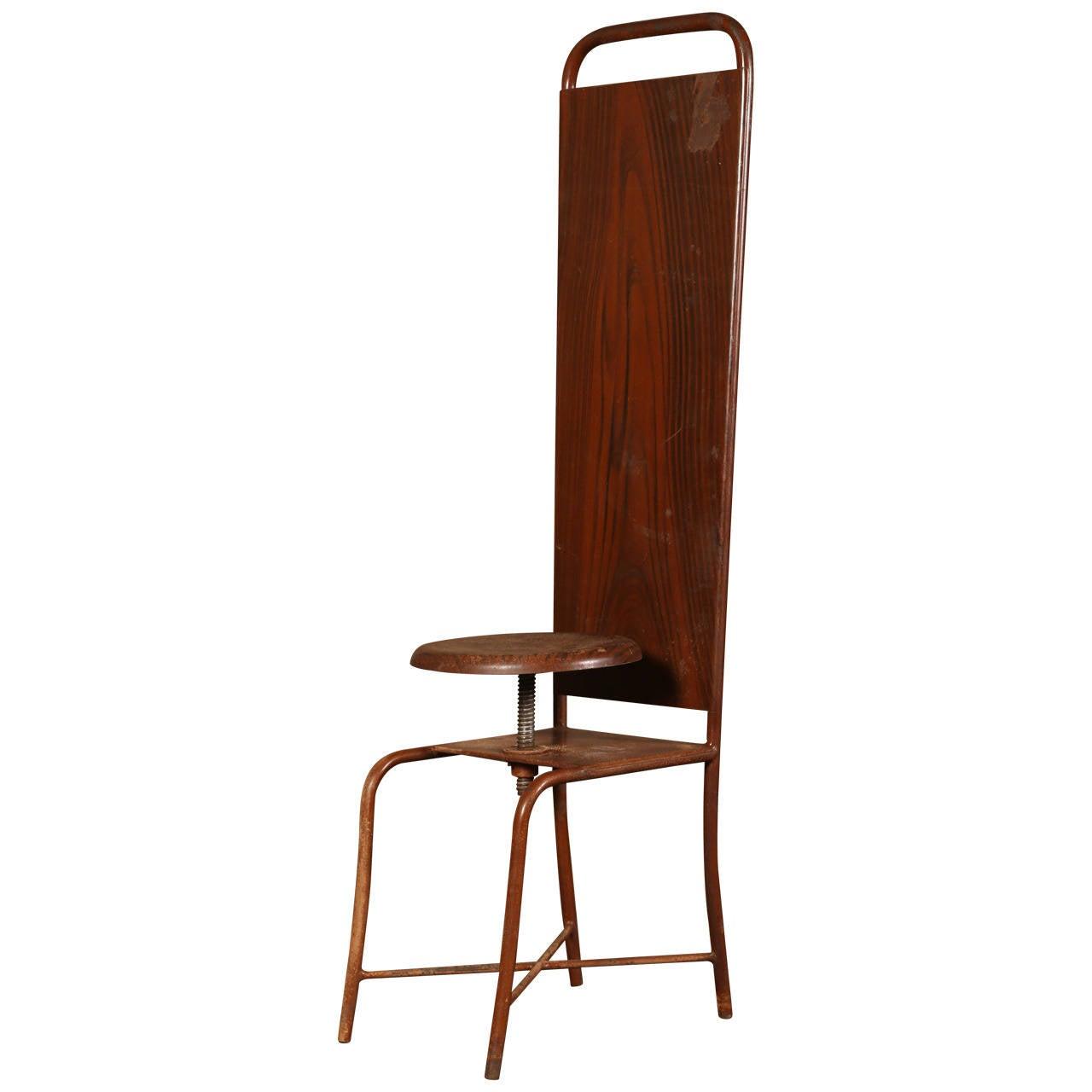 american leather swing chair baby sale original vintage adjustable medical stool or at 1stdibs