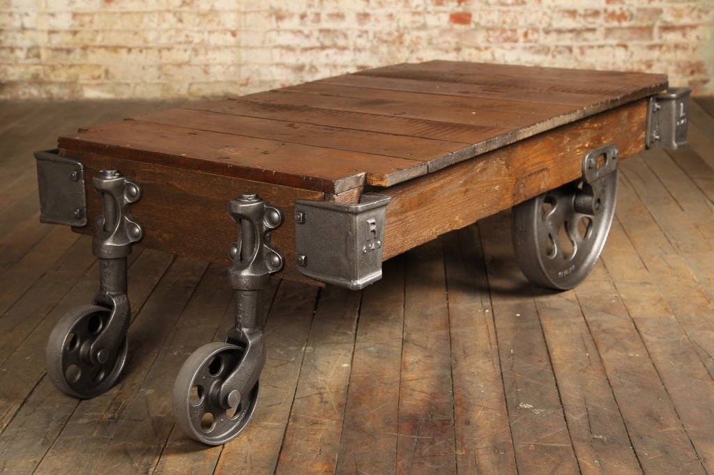 Vintage Industrial Nutting Cartcoffee Table At 1stdibs