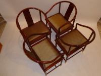 FOUR Stanley Jay Friedman Chinese Tsu Chairs for Brueton ...