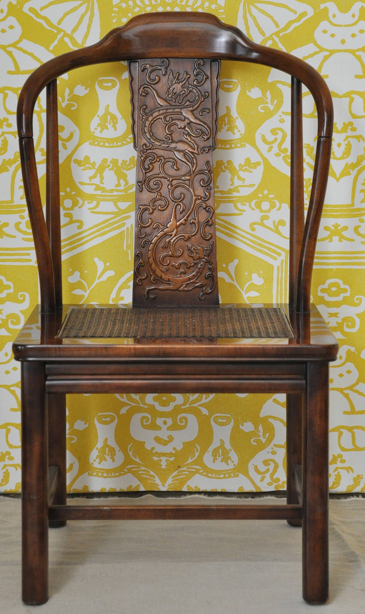 henredon asian dining chairs chair sit to stand norms set of six style by furniture at 1stdibs
