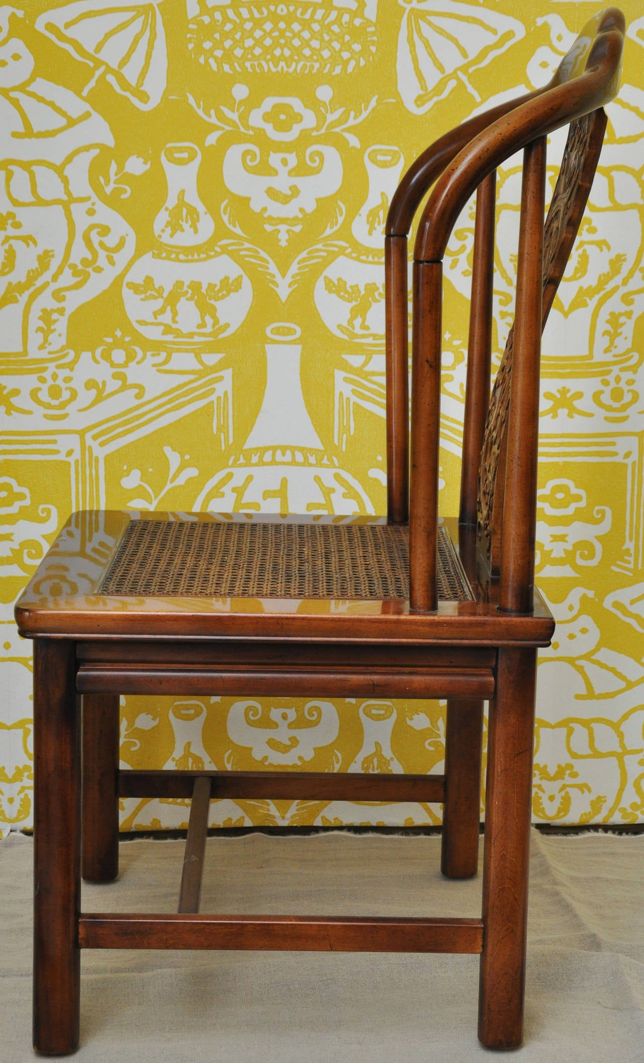 henredon asian dining chairs faux bamboo australia set of six style by furniture at 1stdibs