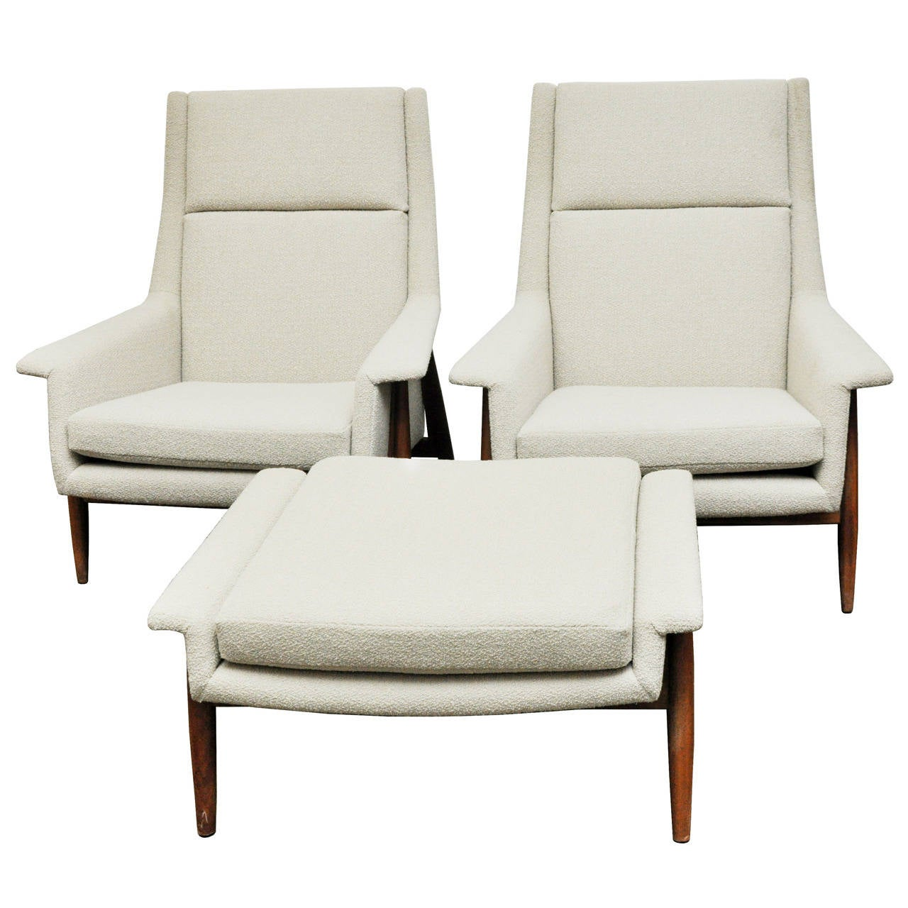 milo baughman chair coleman lumbar quattro chairs and ottoman for thayer coggin at 1stdibs