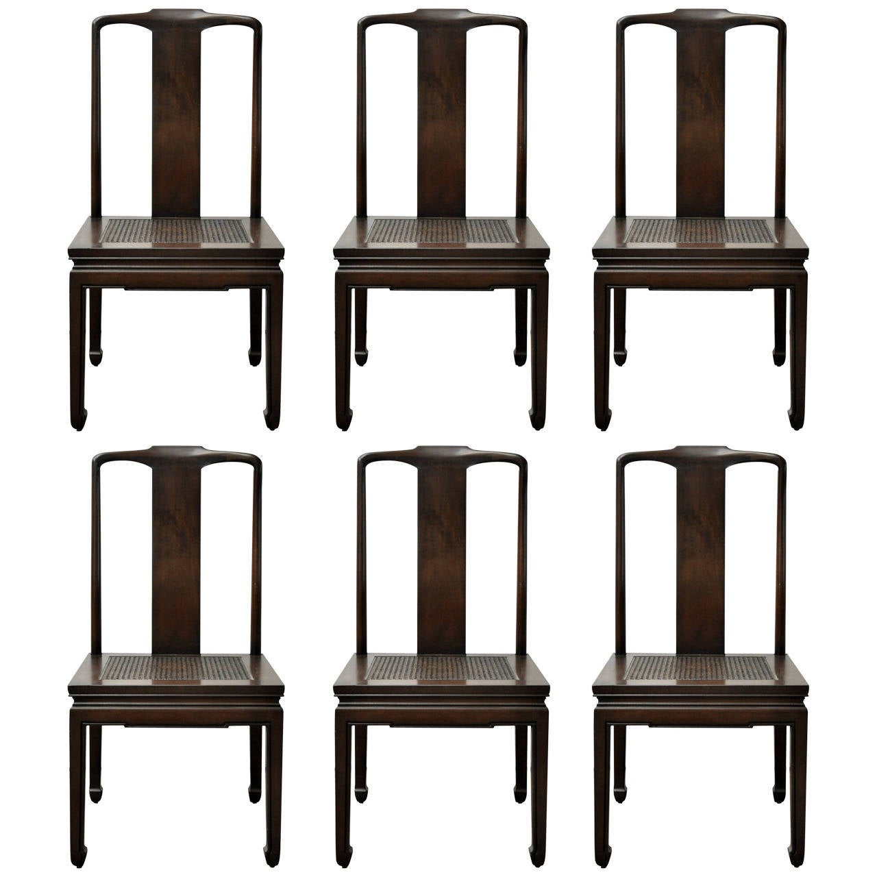 henredon asian dining chairs office chair with armrest set of six at 1stdibs