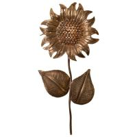 French Gilt Sunflower Sconce at 1stdibs