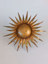 "French Gilt ""Sunflower"" Sconce at 1stdibs"