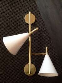 A Perforated Double Cone Wall Sconce at 1stdibs