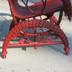 Metal Rocking Chair Runners Reading Ikea Victorian Wicker Platform Rocker At 1stdibs