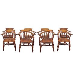 Captain Chairs Dining Room Human Scale Freedom Chair Set Of Eight English 39s At 1stdibs