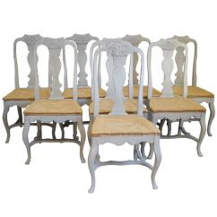 White Washed Oak Dining Table And Chairs Beach In Spanish Set Of 8 Rococo At 1stdibs