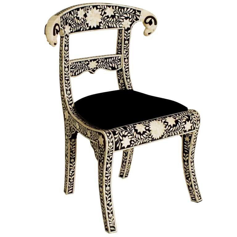 Bone Inlay Klismos Chair at 1stdibs