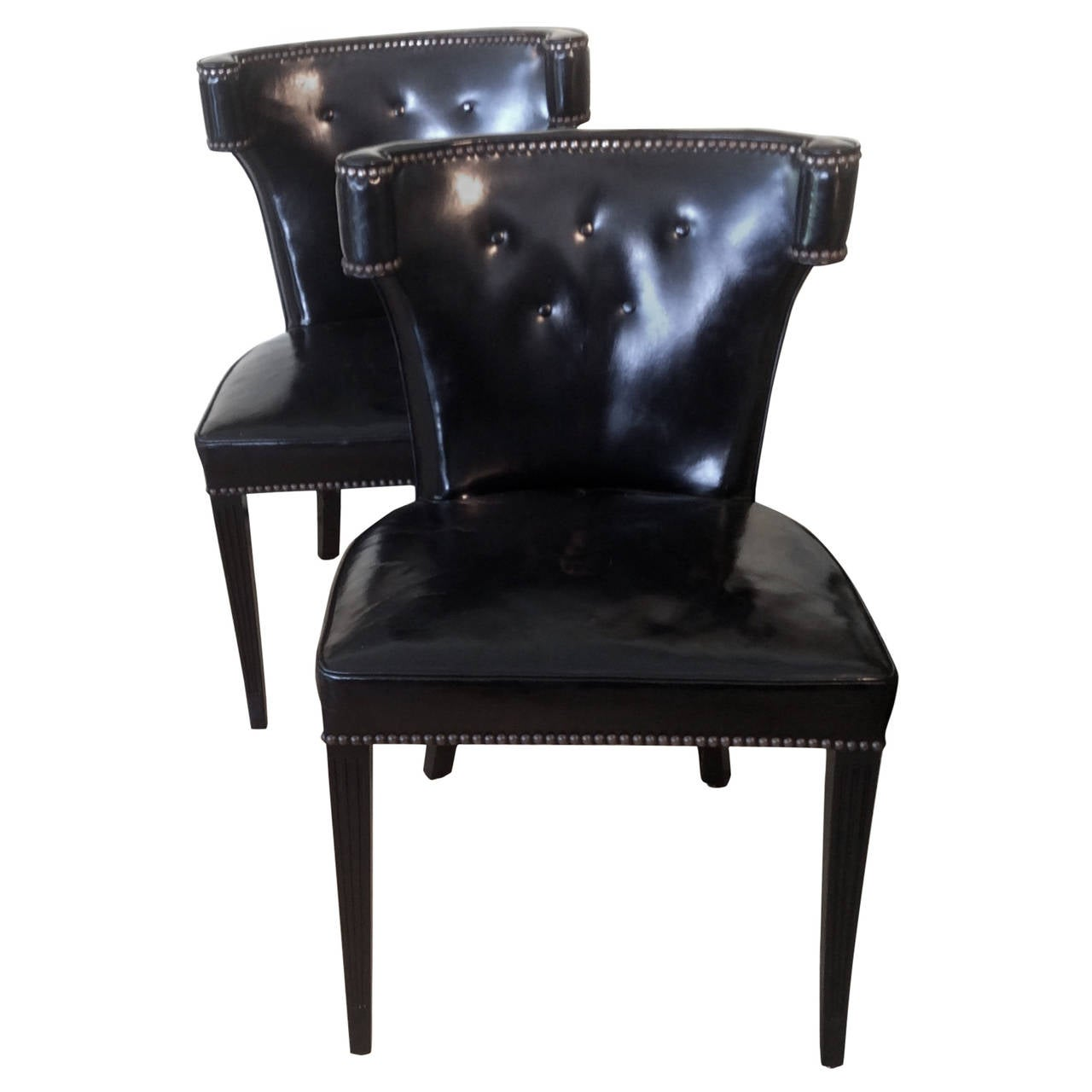 gentlemans chair great office chairs pair of black leather at 1stdibs