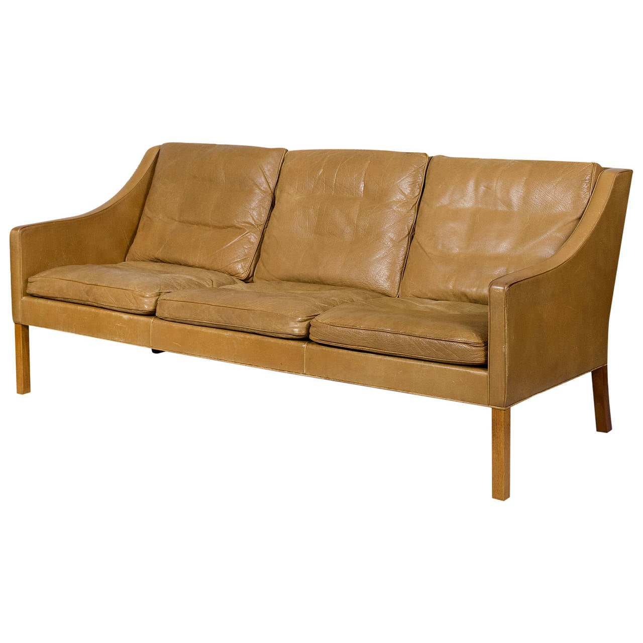 borge mogensen sofa model 2209 chaise lounge with storage three seat leather for sale at 1stdibs