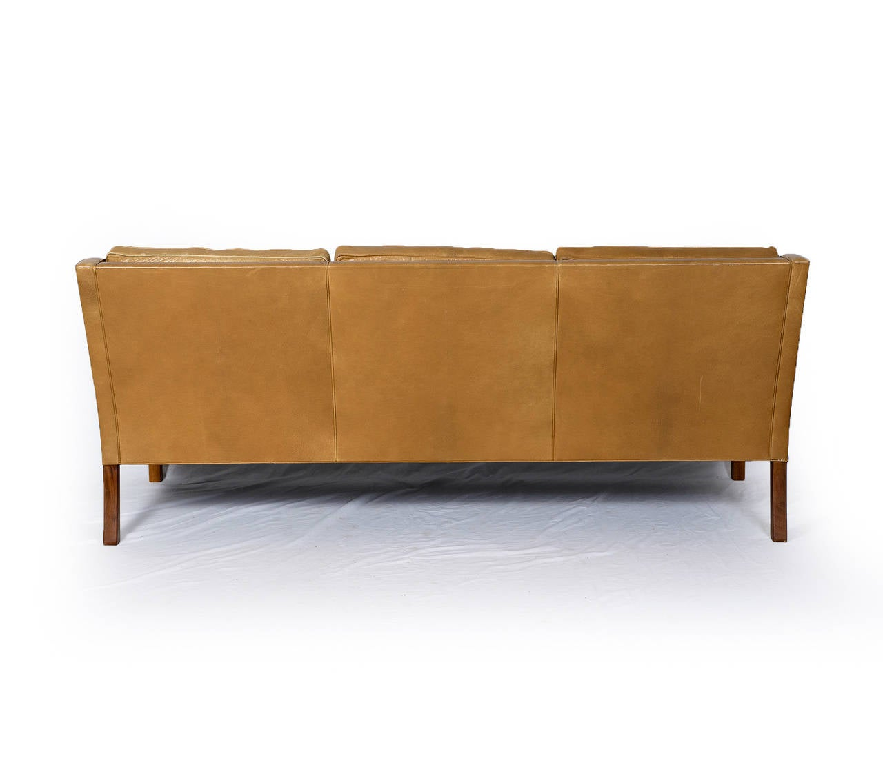 mogensen sofa 2209 with bed inside borge model three seat leather for