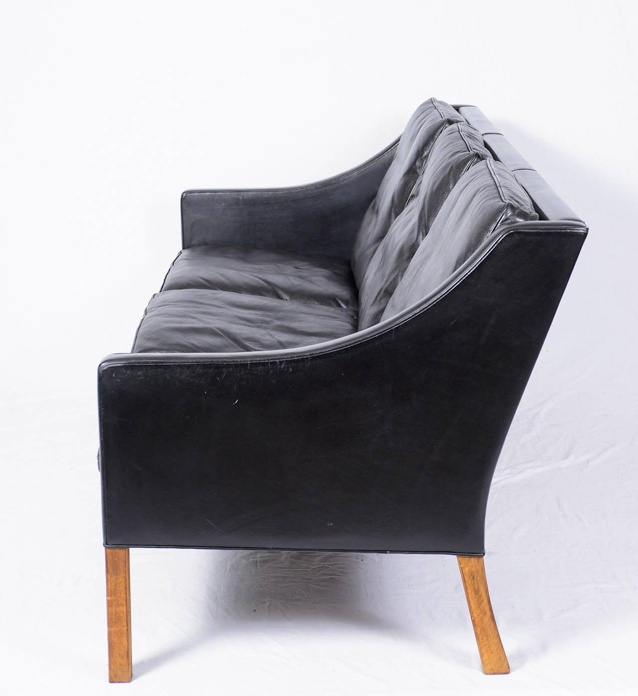 borge mogensen sofa model 2209 outlet sofas børge three seat leather at 1stdibs