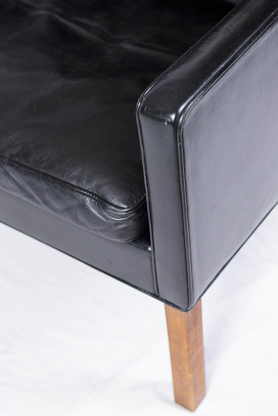 borge mogensen sofa model 2209 rugs to go with chocolate brown børge #2209 three-seat leather at 1stdibs