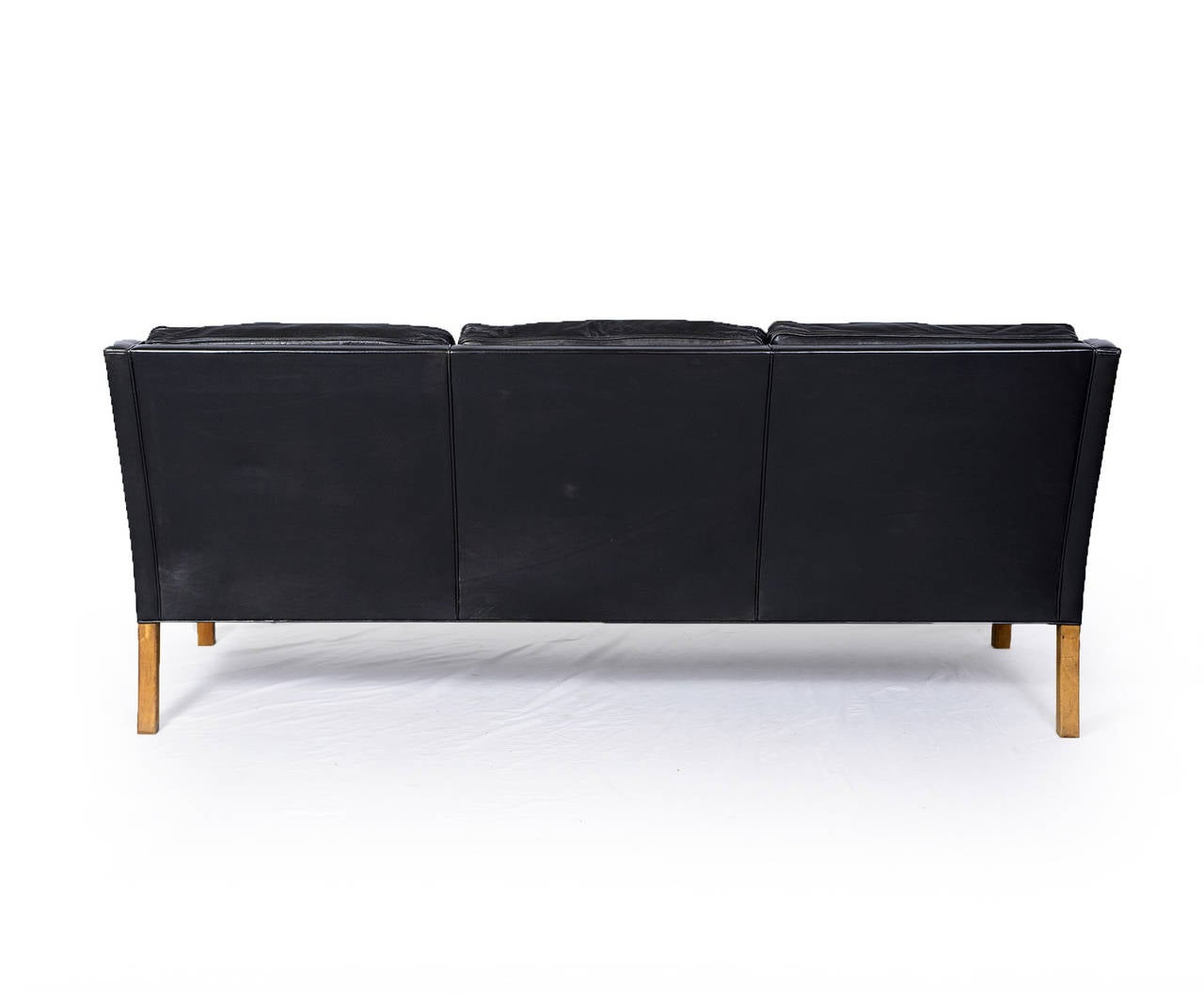 mogensen sofa 2209 luxury bed malaysia børge model three seat leather at 1stdibs