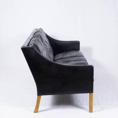 Borge Mogensen Sofa Model 2209 Cushion Images Børge Three Seat Leather At 1stdibs