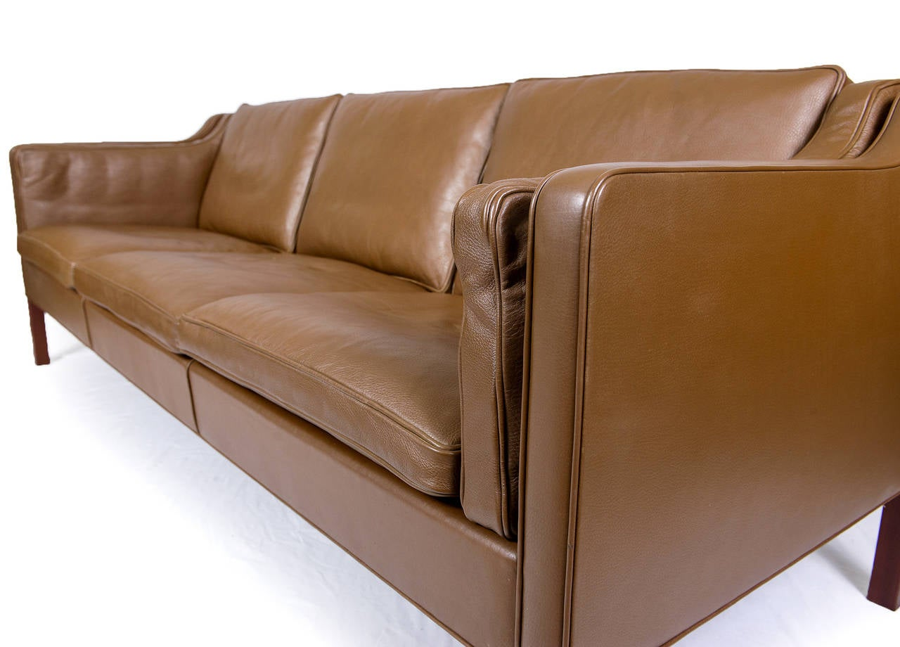 borge mogensen sofa model 2209 southern motion parts 2213 three seat leather at 1stdibs