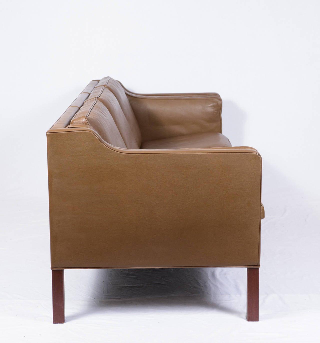 borge mogensen sofa model 2209 broyhill sleeper reviews 2213 three seat leather at 1stdibs