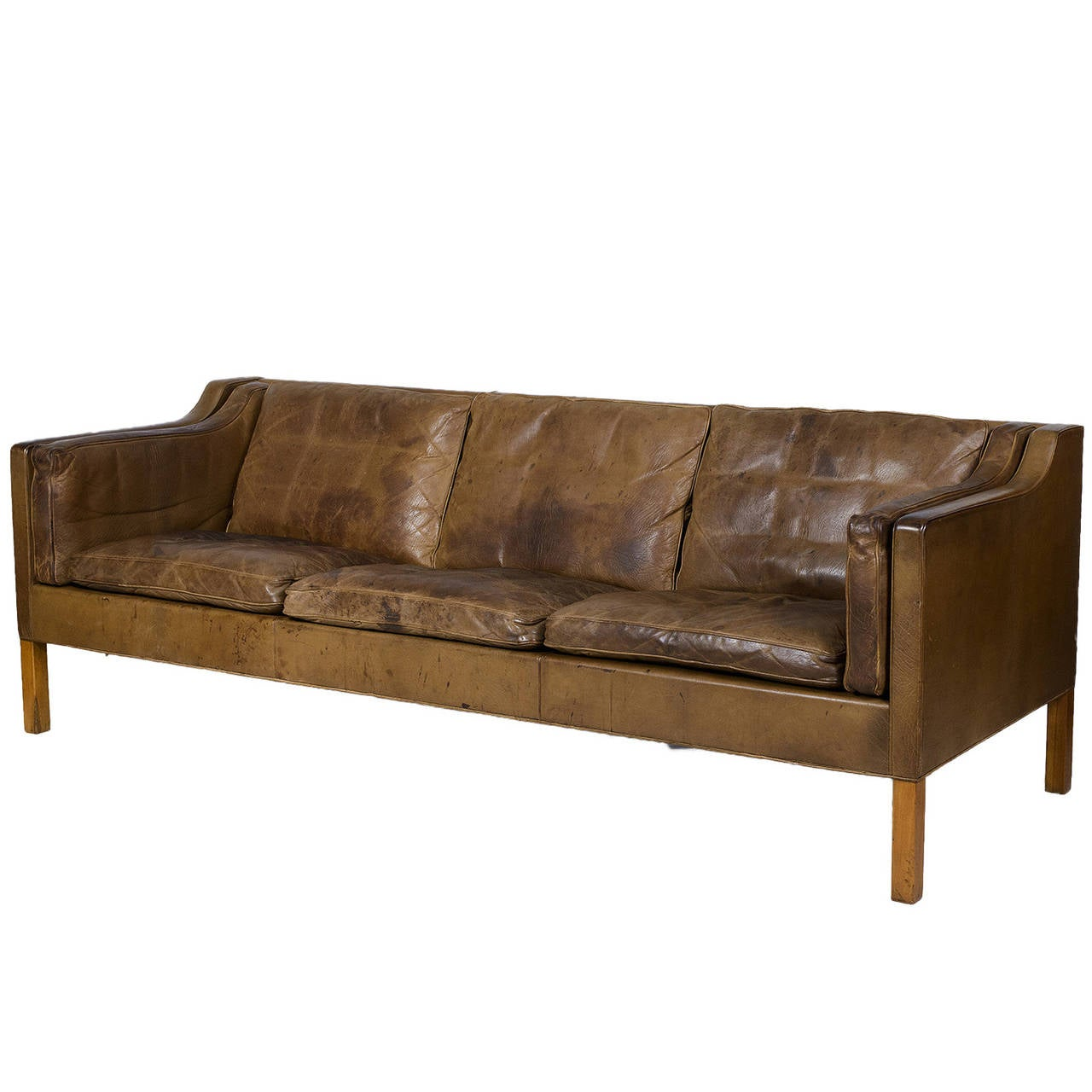 borge mogensen sofa model 2209 soft leather bed 2213 three seat at 1stdibs