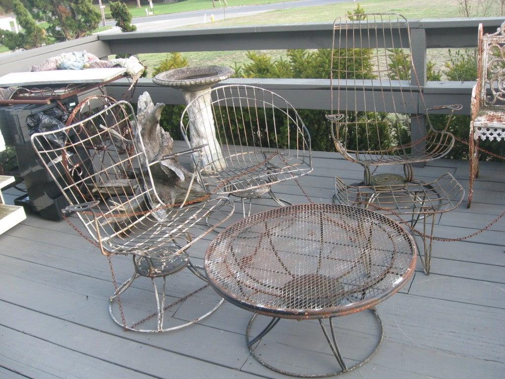 Mid Century Homecrest Wire Patio Chair