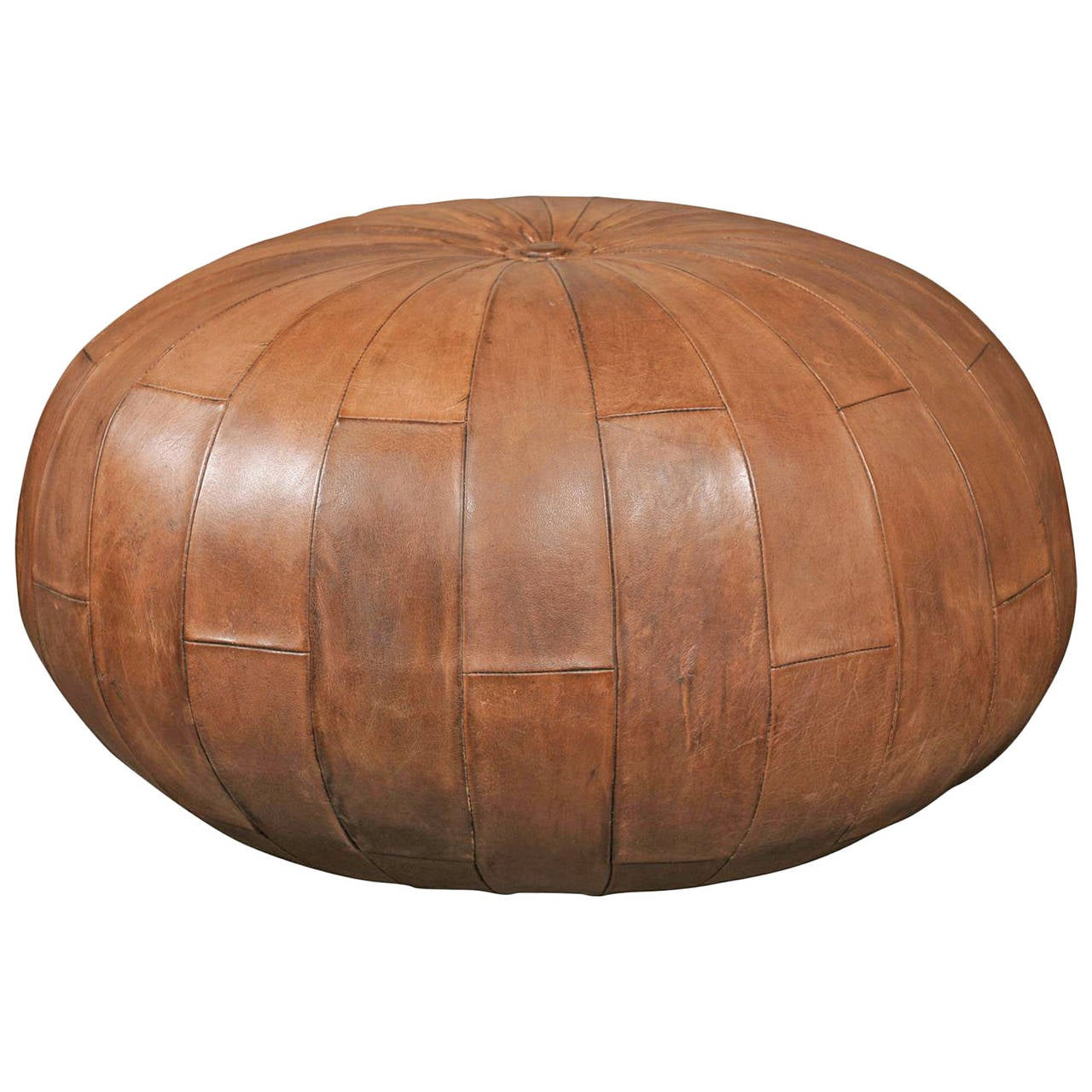Pouf Chair Leather Pouf Or Ottoman At 1stdibs