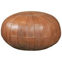 Leather Pouf or Ottoman at 1stdibs