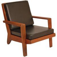Modern Rustic Redwood Lounge Chair at 1stdibs
