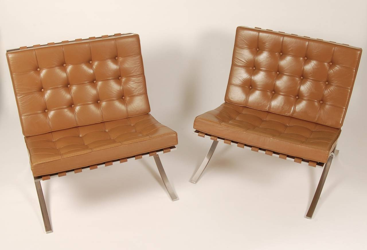 Barcelona Lounge Chair Pair Of Barcelona Lounge Chairs Circa 1960s At 1stdibs