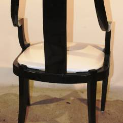 Ladder Back Dining Room Chairs How Much Does It Cost To Reupholster A Wingback Chair Set Of Six Black Lacquer At 1stdibs