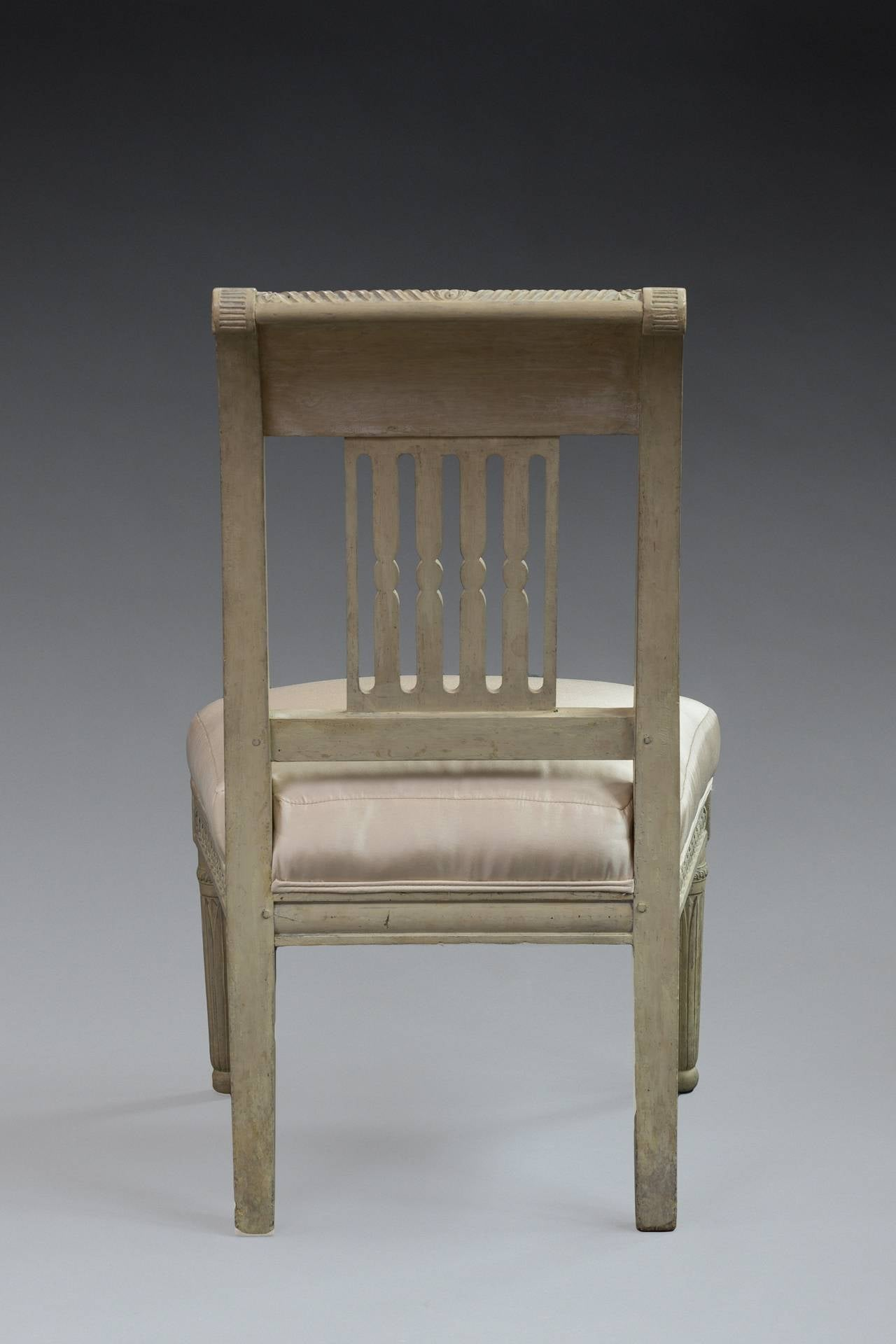 bonnie cream slipper chair restaurant chairs chicago pair of directoire painted for sale