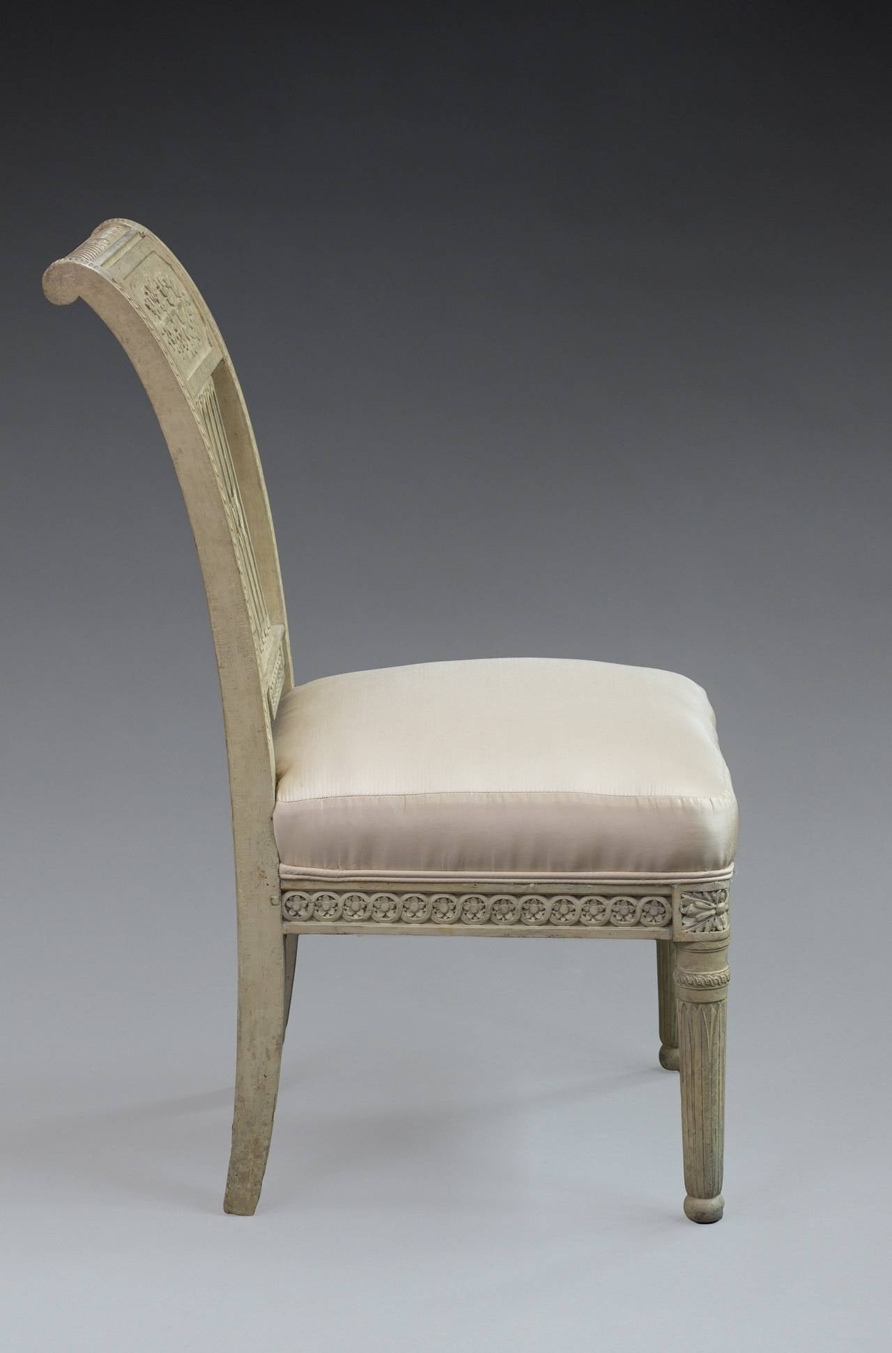 bonnie cream slipper chair does medicare pay for shower chairs pair of directoire painted sale