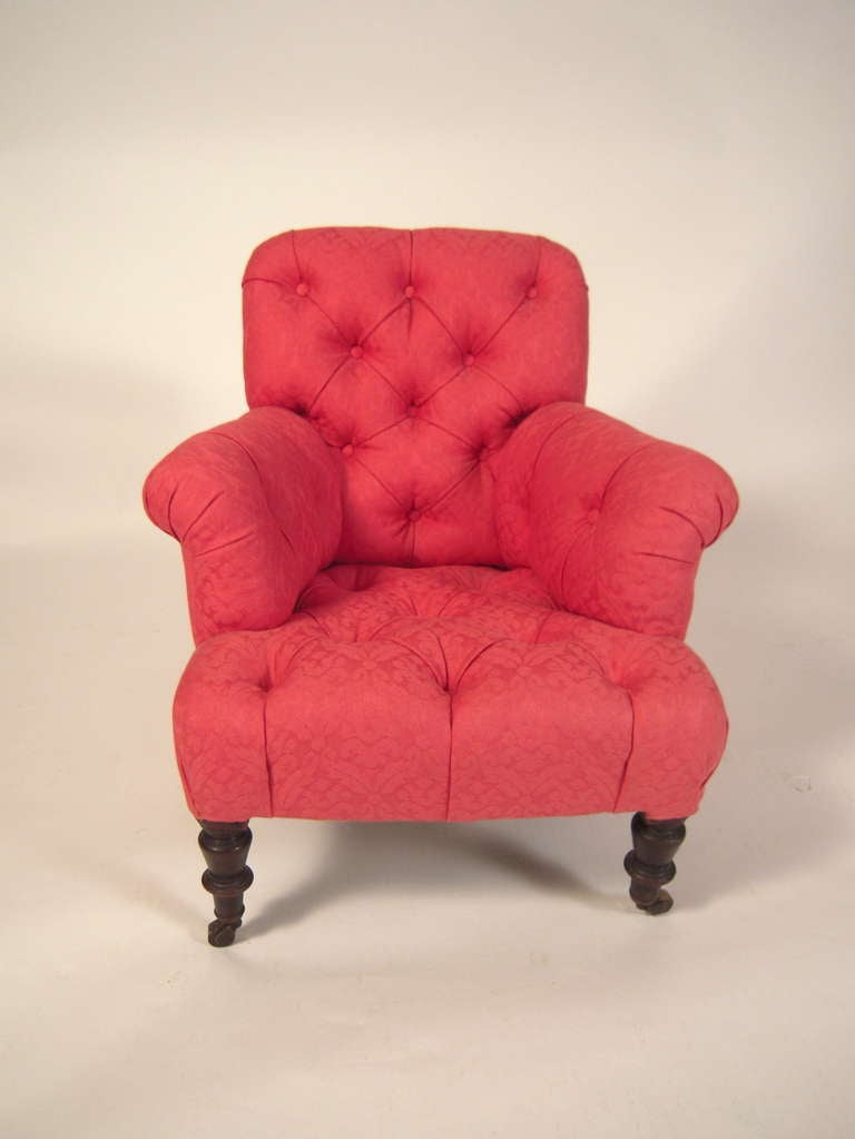 Child Size Victorian Upholstered Arm Chair at 1stdibs
