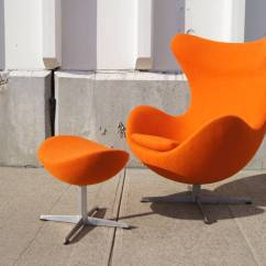 Orange Egg Chair Coffee Chairs Early And Ottoman By Arne Jacobsen At 1stdibs Unveiled The Royal Copenhagen Hotel In Denmark 1958 Poster Child Of Danish