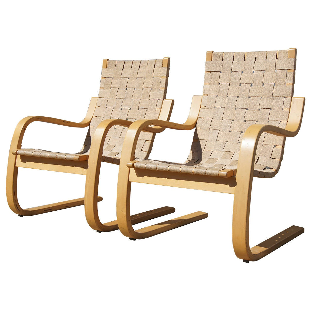 Aalto Chair Pair Of Lounge Chairs 406 By Alvar Aalto For Artek At 1stdibs