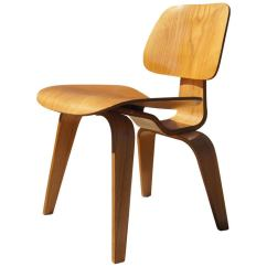 Vintage Wooden Dining Chairs Portable Folding Massage Chair Oak Dcw By Eames For Herman Miller Sale At