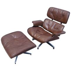 Eames Lounge Chair For Sale Swivel Height Extender Early Production And Ottoman By