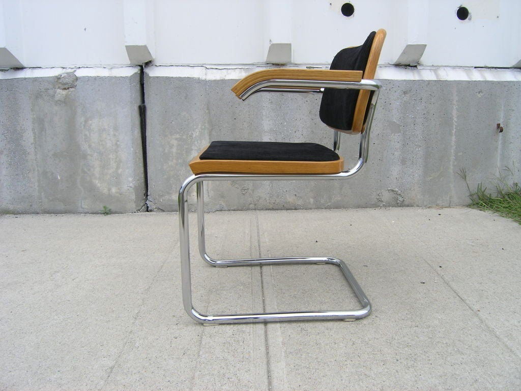 cesca chair replacement seats uk folding buy set of six knoll side arm chairs by marcel breuer at