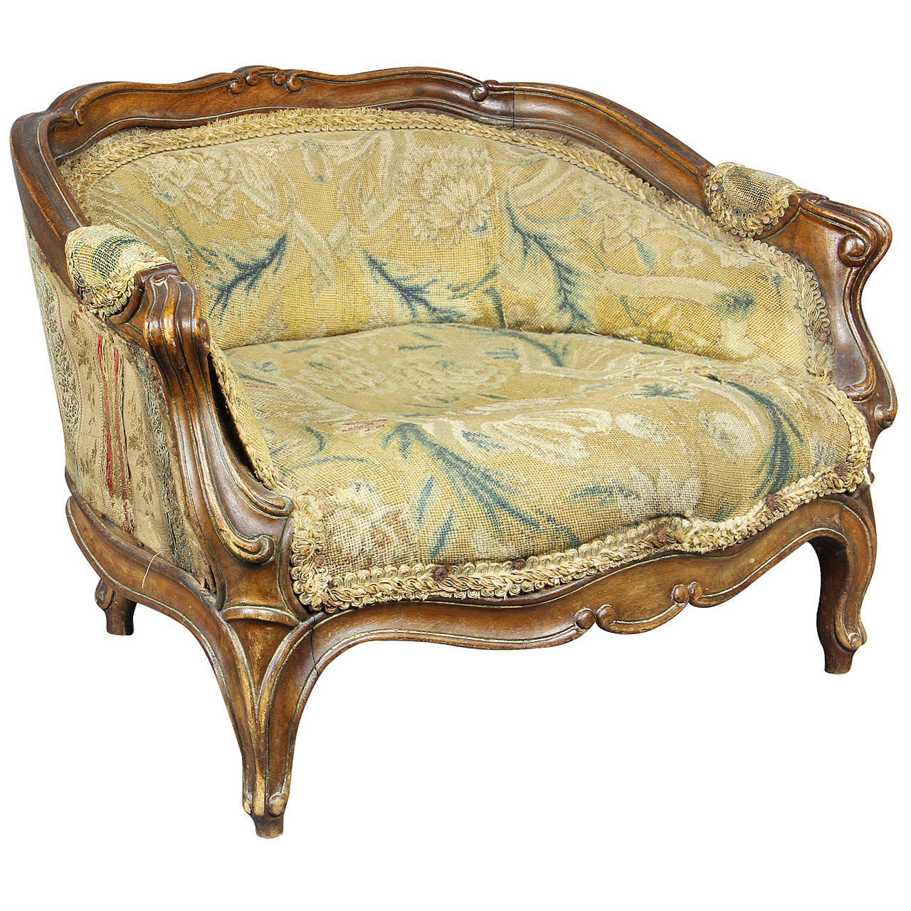 bergere chairs for sale hickory chair accessories cute louis xv style walnut childs at 1stdibs